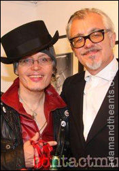 Adam Ant at with Chris Sullivan