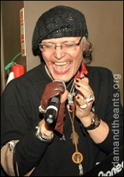Adam Ant at The Face earlier this month