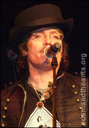 Adam Ant at his Stamford Bridge press conference earlier today