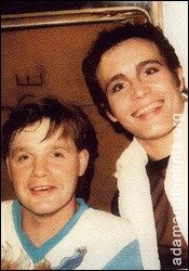 Terry Lee Miall - with Adam Ant for the Disney Summer Vacation Party performance 1986