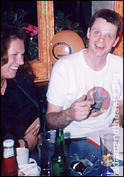 Terry Lee Miall - chatting with Adam & the Ants fans 1999